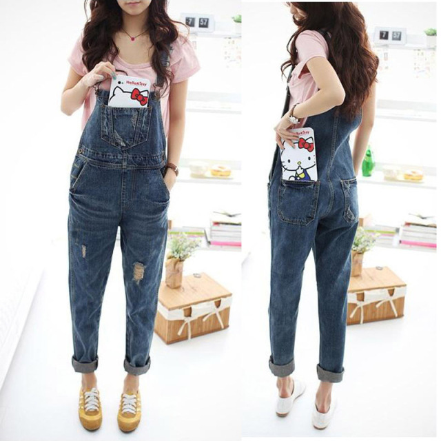 Women's Loose Denim Overalls