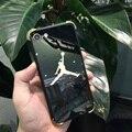 Luxury Sport NBA Jordan Case For iPhone 7 Plus 6 6s Plus 6Plus Coque Back Cover Lover Phone Plating Mirrror Case Fundas Capas