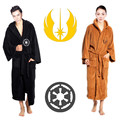 Star Wars Galactic Empire  and Jedi Knight black and brown bathrobes nightwear pajamas coral fleece fabric cosplay costumes