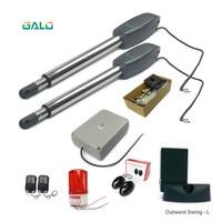 Double Arm electric Automatic Swing gate motor dooropener(photocell lamp keypad gsm lock optional) 300kg ~400kg 700lbs