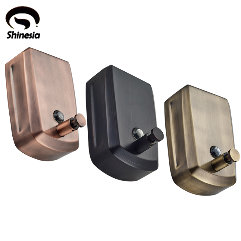 Wholesale and Retail Solid Brass Bathroom Liquid Soap Dispenser 800ml Wall Mounted
