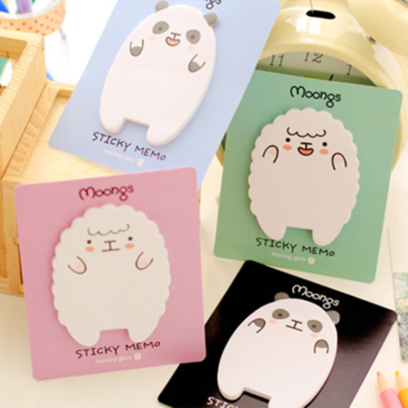 40 pcs/Lot Cute panda and lamb Sticky notes Paper memo pad School stickers post zakka office supply kawaii papeleria 6811