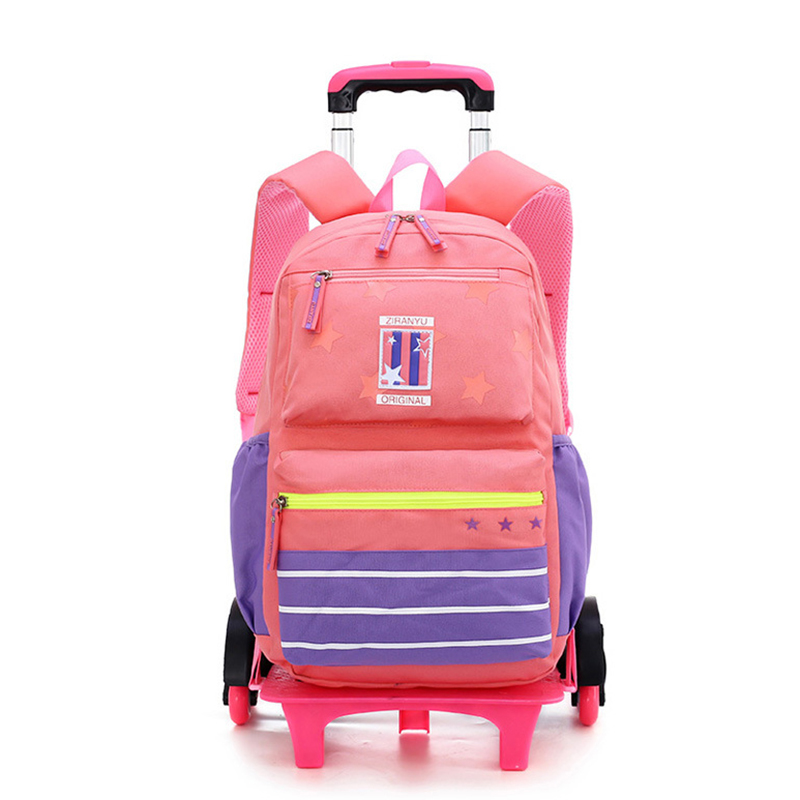 Trolley-Bag Detachable Travel-Luggage Stair-Backpack Six-Wheel Girls Pupils Climbing