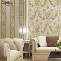 beibehang European - style rural AB version 3D embossed wallpaper non - woven living room bedroom TV background wall paper