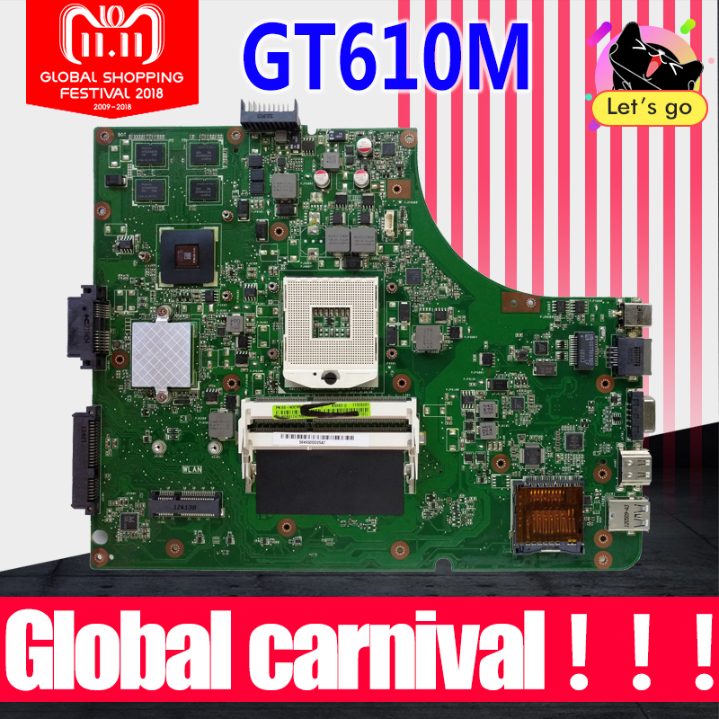 K53SD Motherboard REV5.1 GT610M 2GB RAM For ASUS A53S X53S K53S K53SD laptop Motherboard K53SD Mainboard K53SD Mainboard 100% OK цена