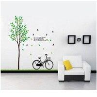 Adesivo De Parede Tijd beperkte Voor Muur Plant Hot Koop Boom En Fiets Stickers Voor Woondecoratie Diy Poster verwijderbare