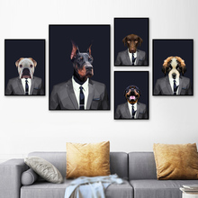 Fashion Pug Dog Bulldog Wall Art Canvas Painting Nordic Posters And Print Animal Pictures For Living Room Modern Home Decor