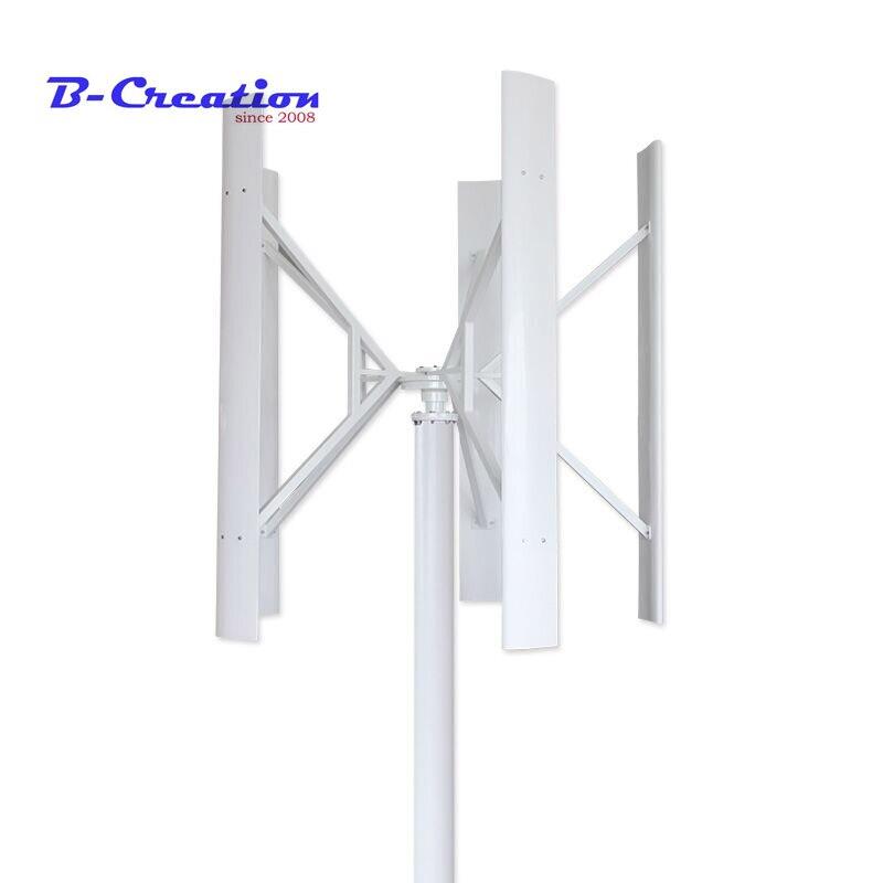 1.5m a démarré l'éolienne à axe vertical haute efficacité maglev 500w 12/24 v/48 v avec contrôleur solaire de vent 800w