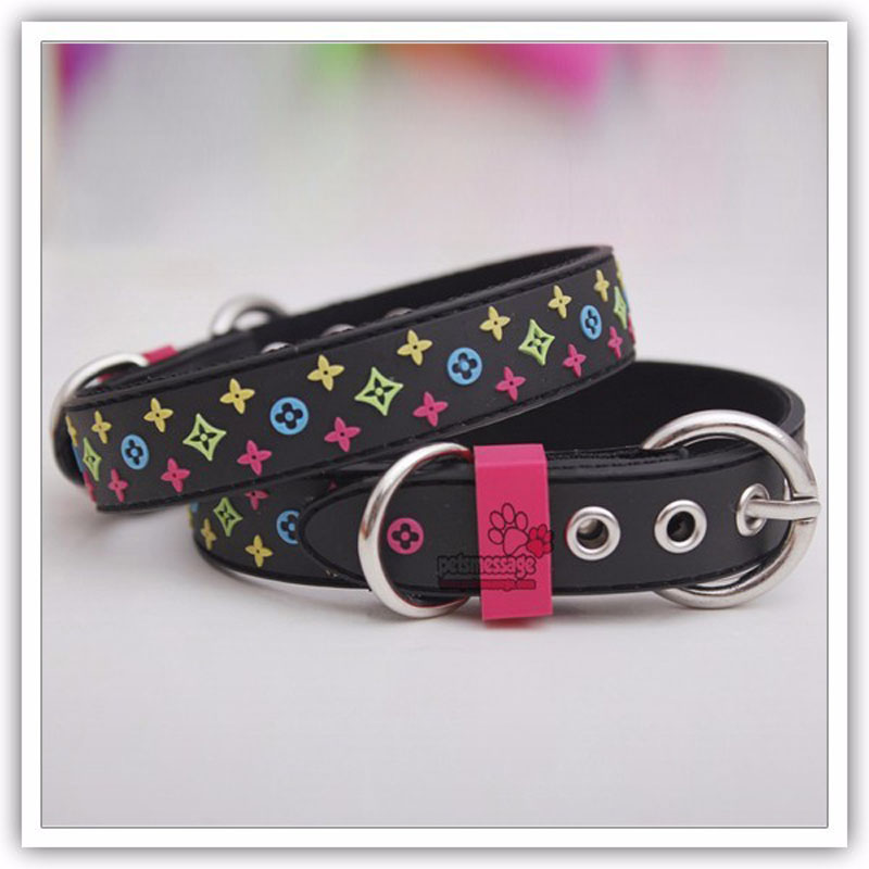 For Pet Lead Small Pet Dog Collar Lead Black Brown  High Quality Rubber & Nylon Pet Leash 1pcs/lot