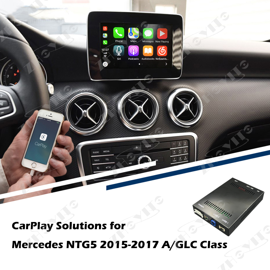 US $362 45 |Aftermarket OEM Apple Carplay Retrofit Solution Mercedes NTG5 A  GLA Class 2015 2017 Smart Apple Car Play Box IOS Airplay -in Car