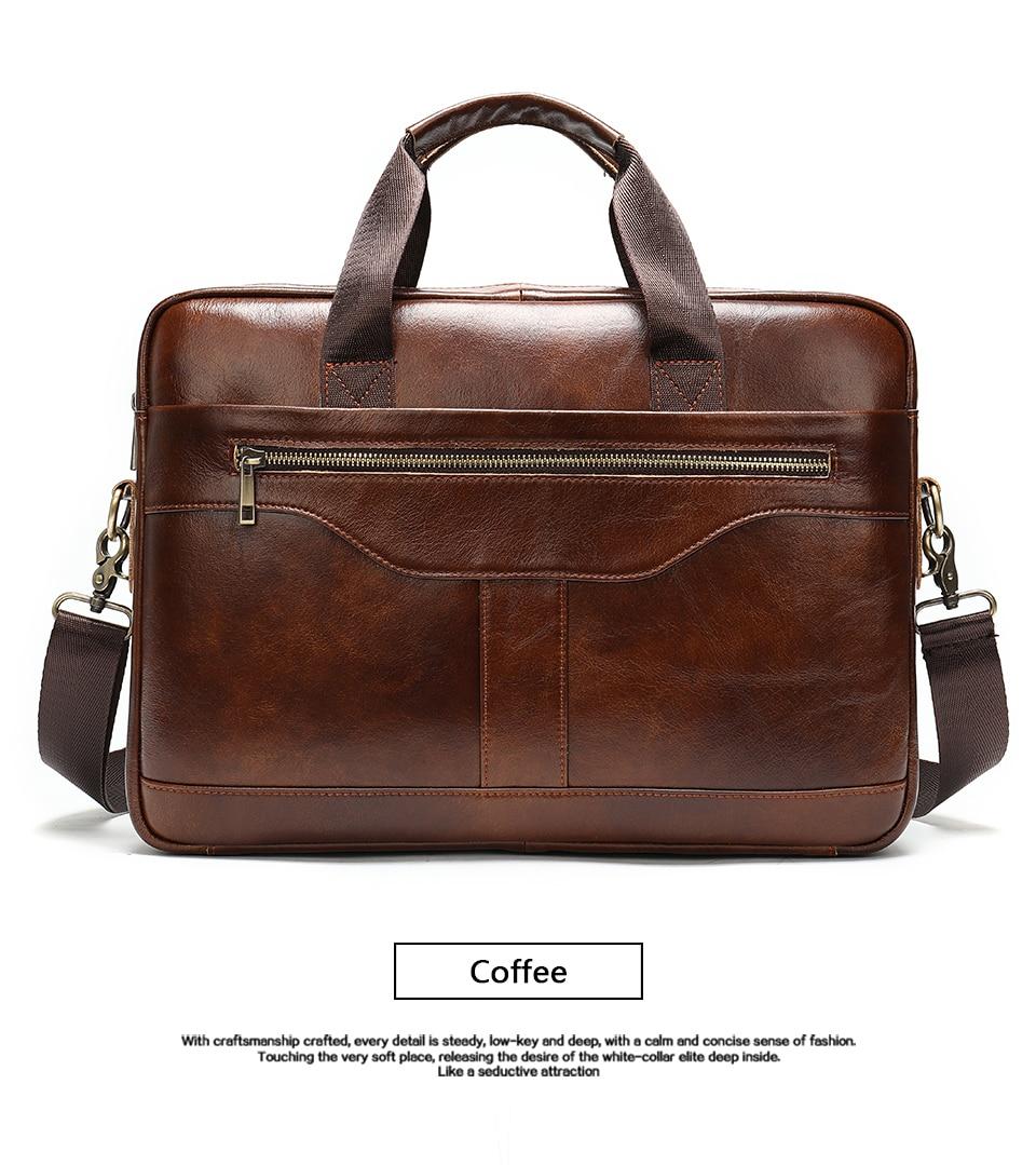 6 Bag Men's Genuine Leather Briefcase Male Handbags Lawyer Man Laptop Bag Leather for Men Messenger Bags Men's Briefcases