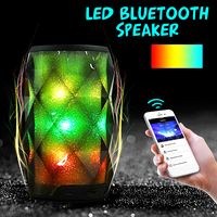 5 Watt Kristall Vibe Tragbare Wireless Smart LED Bluetooth Lautsprecher Lade USB SD Mic Stereo Lautsprecher Bunte Nacht Beleuchtung Lampen