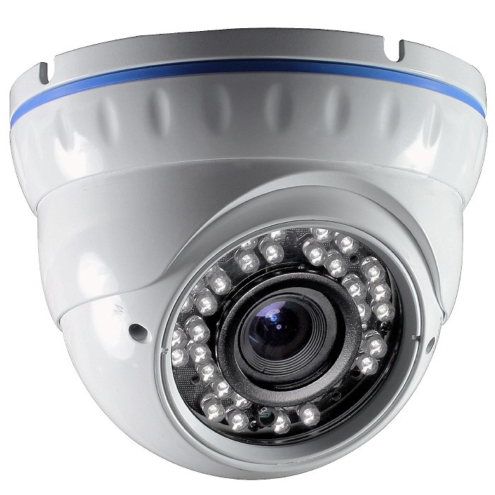 """Dome Kamera Überwachungskamera 1//3/"""" CCD CHIP 700 TVL 2,8-12mm Objektiv IR"""