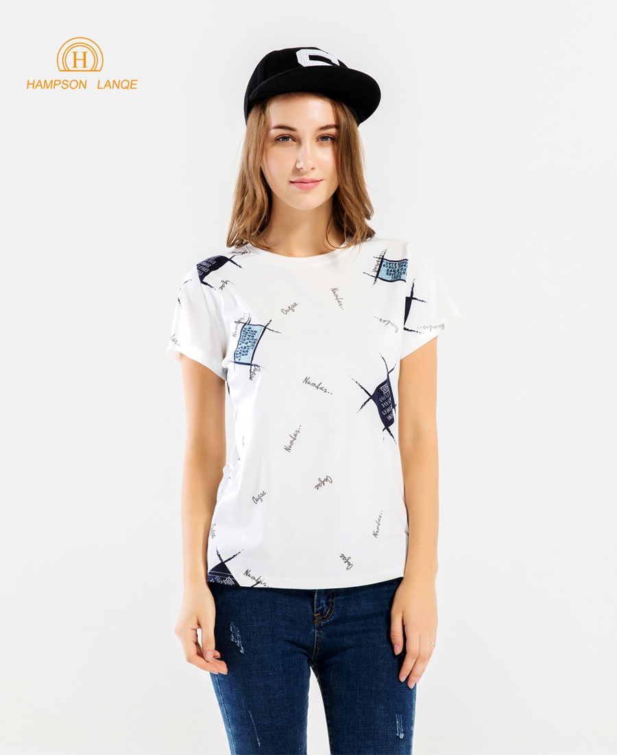 Geometric & Letters Printed Hip Hop Women T Shirts 2019 Summer Slim Fit Short Sleeve T-Shirt Harajuku Round Neck Hipster Tops