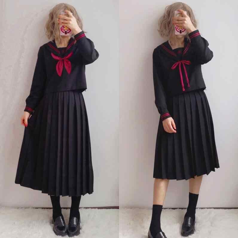 Tr Japanse Jk Sets Schooluniform Meisjes Sakura Embroideried Hoge School Vrouwen Nieuwigheid Sailor Suits Yankee Meisje Uniform JK001