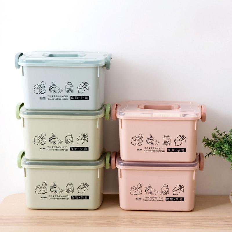 FUNIQUE Clothing Storage Box Covered Wardrobe Underware Bra Container Kitchen Finishing Box Household Plastic Office Organizer