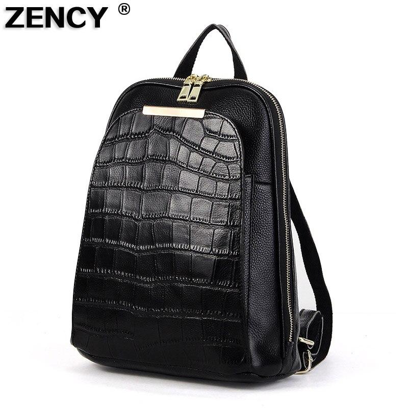 ZENCY классический 2019 натуральный 100% натуральная телячья кожа повседневные для женщин рюкзак дамы обувь для девочек топ слои яловой