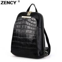 ZENCY Backpack Genuine Leather Women S Backpacks Ladies Girl S School Bag Top Layer Cowhide Mochila