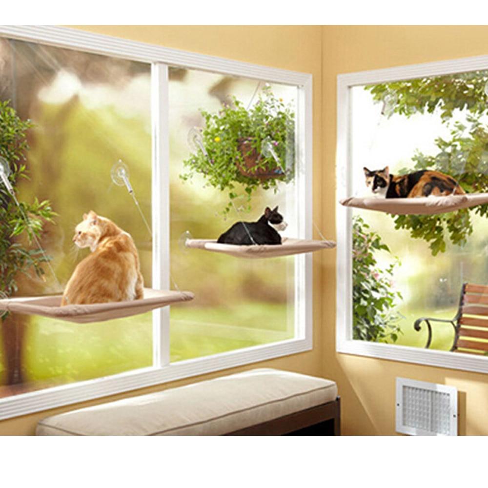 Livraison gratuite tv produit pet hamac chats avec une ventouse tapis chat hamacpet lits