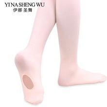 e06a7b0f72 1 pc Crianças Meninas Miúdos Prefessional Microfibra Macia Ballet Dança  Panty Hose Leggings Conversíveis Collants De
