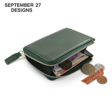 Coin Purses genuine leather women's mini purse small Change Zipper wallet Coin Pouch bag male wallets Card Holder Simple Pocket