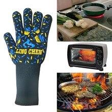 """1 шт. барбекю, гриль перчатки, 93"""" F высокая термостойкость кухонные перчатки-Прихватки для приготовления пищи, выпечки, барбекю, сварки, резки"""