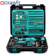 GOXAWEE 2Pcs Electric Mini Drill Dremel Style Electric Rotar