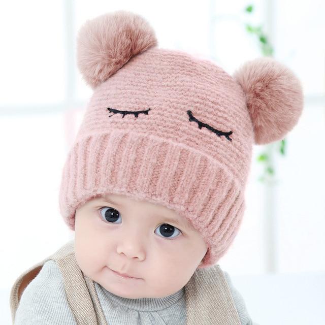 Winter Cute Newborn Baby Hats Caps bonnet enfant Crochet Pompom Hat For Baby  Girls Boy Warm 2a868b08f70c