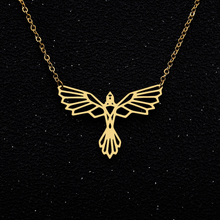 Hollow Geometric Phoenix Necklaces Pendents Collier Origami Necklace Jewelry Accessories Bijoux Femme Bridesmaid Gifts