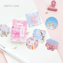Cherry Blossom Cute Sticker Decorative Album Diary Mobile Scrapbook Bullet Journal Sealing Office School Supplies DIY Stationery