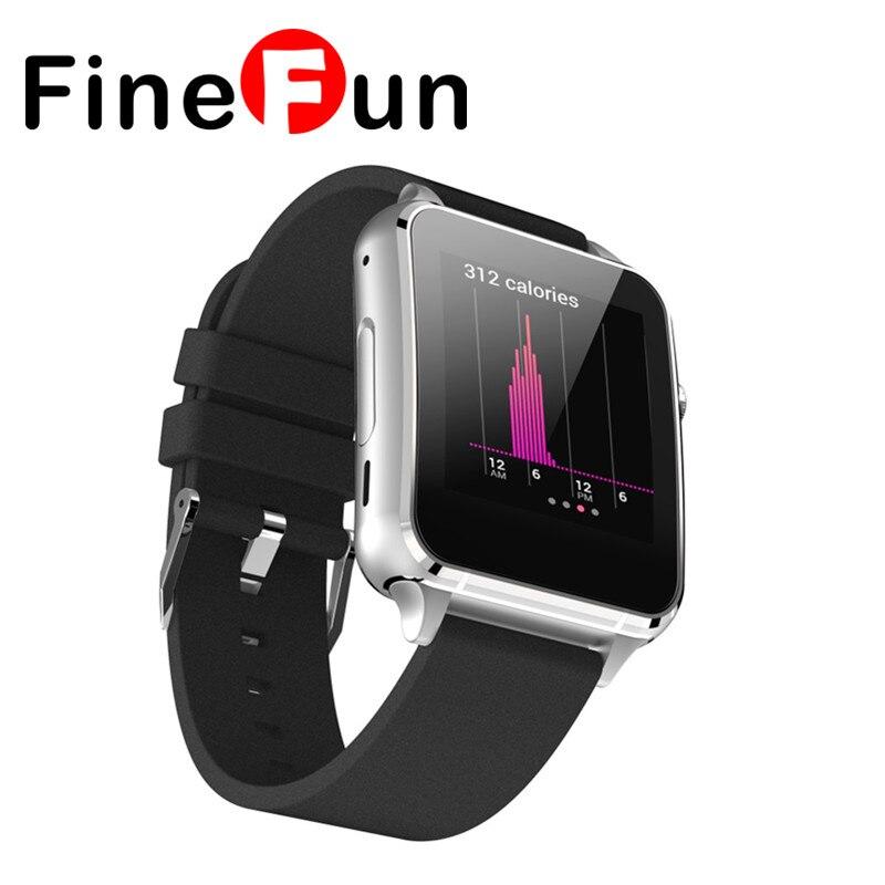 Finefun m88 bluetooth smart watch mtk2502 sync notificador sim soporte de tarjet