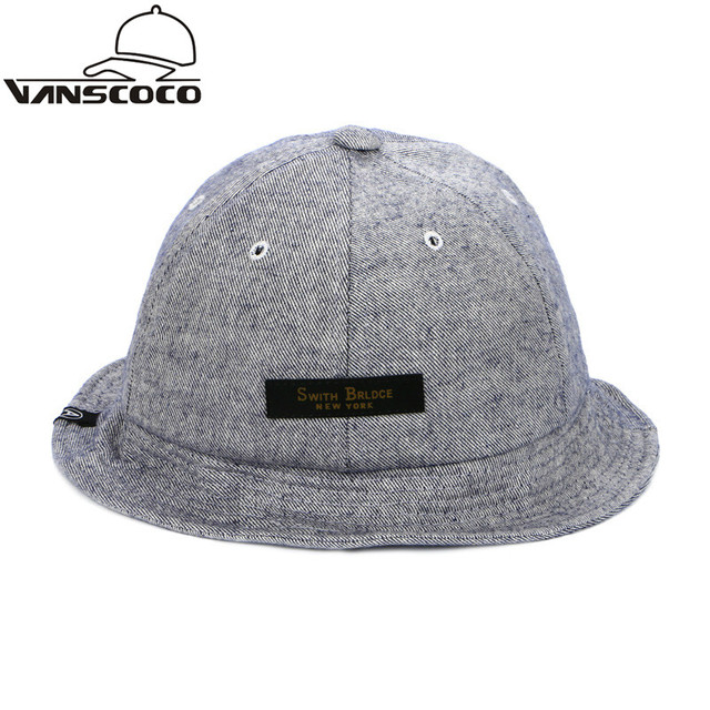 New Swith Blace Patch Boonie Bucket Hat New York Fishing Hat Fishermen Cap  Women Men panama fa6676d0fd