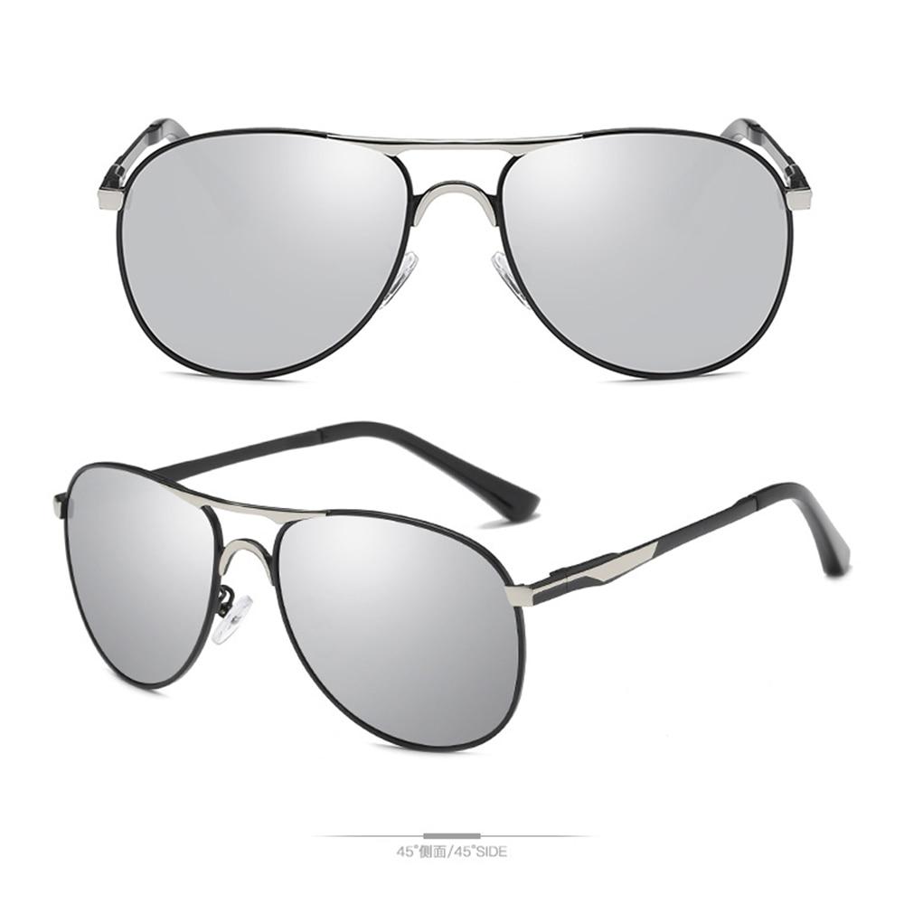 High-end Pilot Fashion Driving Sun Glasses Polarized Mirror Sunglasses Custom Made Myopia Minus Prescription Lens -1 to -6