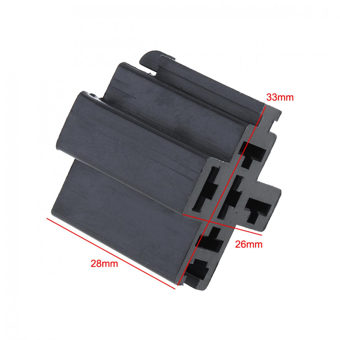 1 Set Black 63mm 5a 5w Car Auto Vehicle 5 Pin Relay Socket Holder Prong Pigtail 21576 Description L4