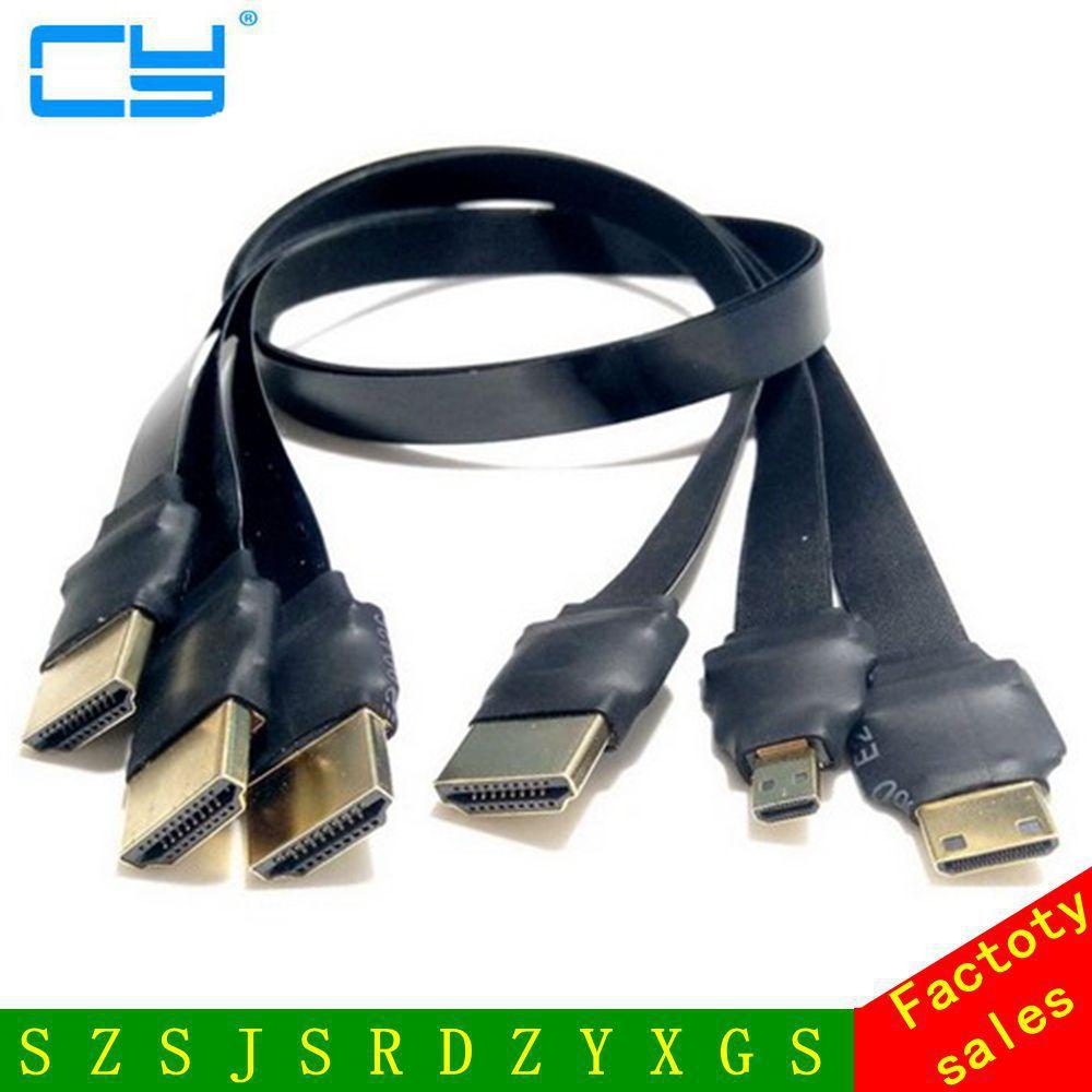 FPV-системы Micro HDMI Mini HDMI градусов адаптер 5 см-100 см ФПК ленты плоский кабель HDMI шаг 20pin для MultiCopter аэрофотосъемки DIY