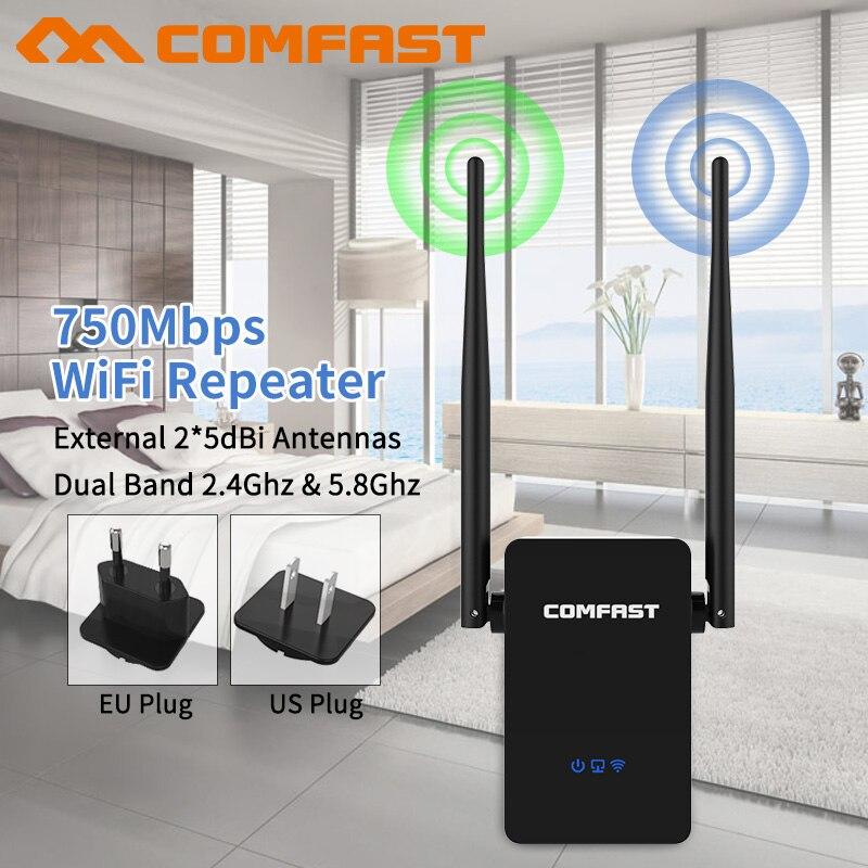 5.8g double bande 802.11 AC Sans Fil Wifi Répéteur Range Extender Signal Amplificateur 750 Mbps 10dbi Antenne Wifi Booster Repetidor