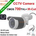 Chegada nova Câmera de CCTV 700TVL 1/4 ''CMOS Sensor filtro ircut nigth visão Câmera de segurança Em Casa ao ar livre à prova d' água 24 h/7 dias de trabalho