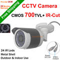 New arrival 700TVL CCTV Camera 1/4''CMOS Sensor outdoor ircut filter nigth vision Home security Camera waterproof 24h/7days work