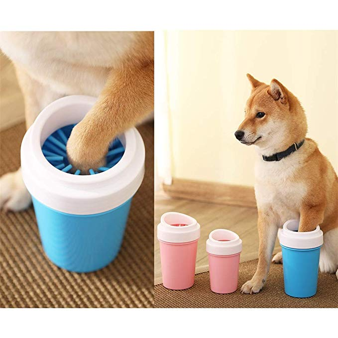 HTB1I8RTaUvrK1RjSspcq6zzSXXaC - Dirty Dog paw cleaner Soft Silicone Combs Portable Pet Foot Washer Cup