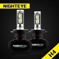 NIGHTEYE Car Headlight Kit LED H4 Hi Lo 50W Set 8000lm CSP Chips Bulb Auto Head