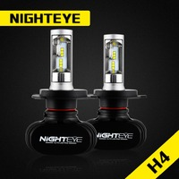 NIGHTEYE Car Headlight Kit LED H4 Hi Lo 50W Set 8000lm CSP Chips Bulb Auto Head
