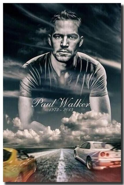 mt free shipping action movie paul walker fast furious 7 hd fabric