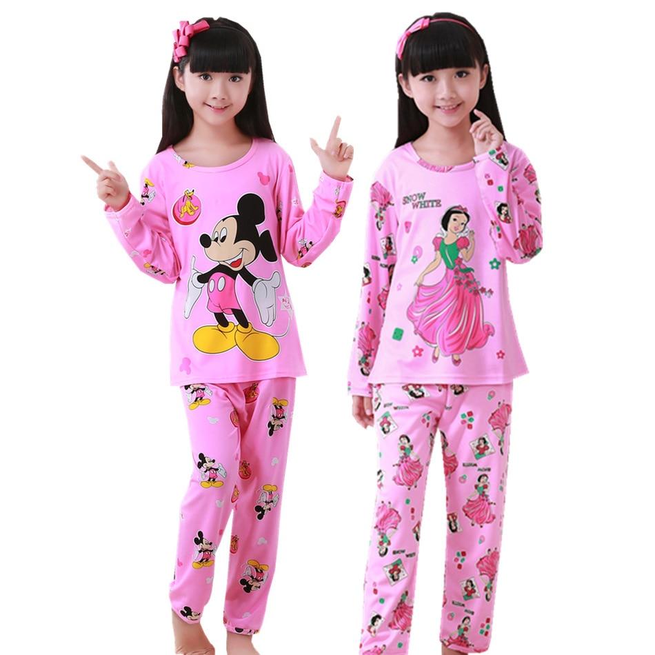 Pajamas Girl Summer Short Sleeve Cotton Set Princess