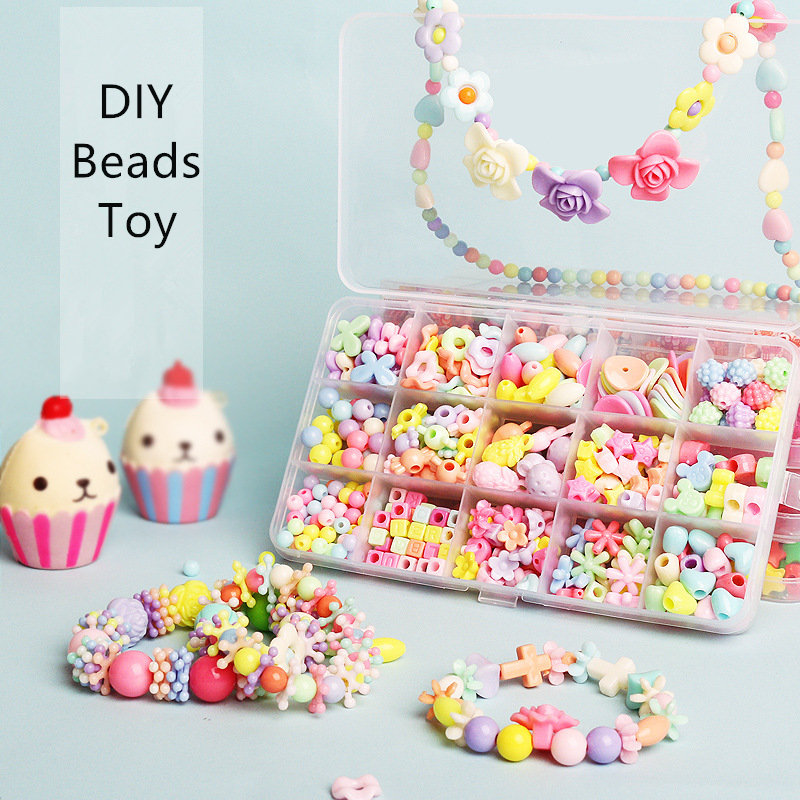 DIY Handmade Beaded Toy With Accessory Set Girl Toys Bracelet Necklace Jewelry Making Toys Educational Toys For Children