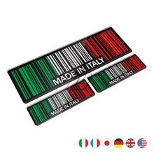 купить High Quality 3D Bar Code Sticker Made In Italy Motorcycle Tank Pad Decal Case for Honda Yamaha Suzuki Kawasaki KTM BMW дешево
