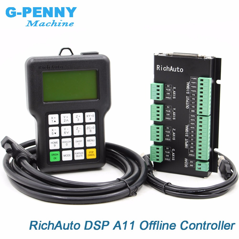 Free Shipping RichAuto DSP A11 CNC Controller Original 3 Axis Motion Controller A11E English Version For CNC Router Machine