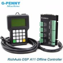Бесплатная доставка RichAuto DSP A11 ЧПУ Оригинал 3 оси motion контроллер A11E английская версия для ЧПУ машины