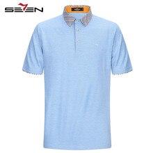 Seven7 Marke Polo Shirts Kurzarm Männer Baumwolle Business Casual solide Polos Shirts Männlichen Kragen Slim Fit 2017 Neue Heiße 112T50270