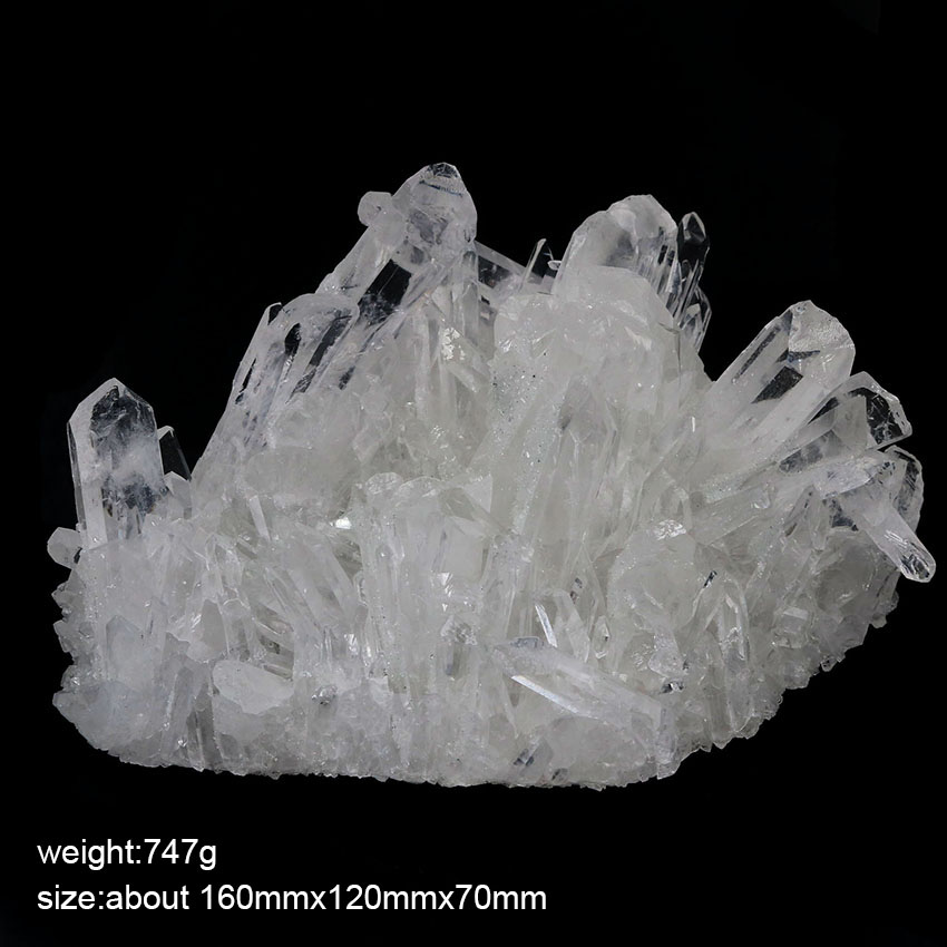 xinshangmie 747 g Natural Beautiful White Crystal Cluster Mineral Specimen Decorations Household Suppliesxinshangmie 747 g Natural Beautiful White Crystal Cluster Mineral Specimen Decorations Household Supplies