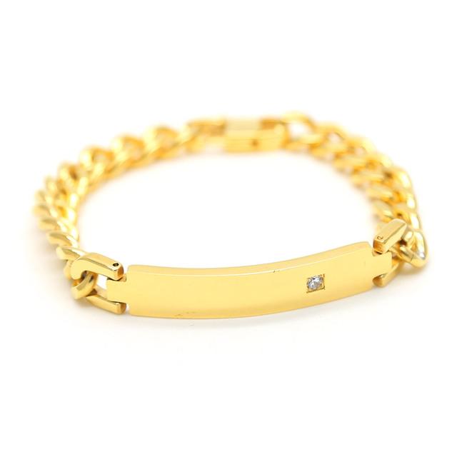 Definir trado banhado a ouro titanium aço pulseira da moda hiphop 21 cm longa cadeia cubano pulseiras bangles homens jóias bijuteria